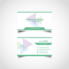 Simple Green Business Card Template, Vector, Illustration, Eps File