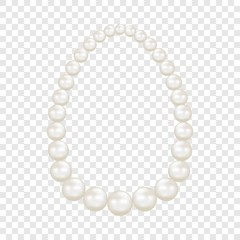 Pearls mockup. Realistic illustration of pearls vector mockup for on transparent background