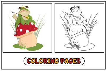 Coloring frog princess