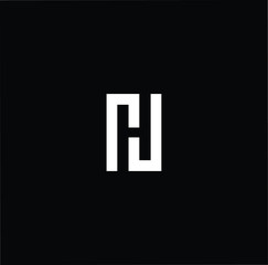 Outstanding professional elegant trendy awesome artistic black and white color NH HN initial based Alphabet icon logo.