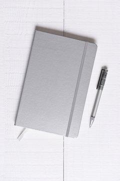 Sliver Journal and Pen