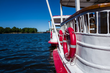 A boat on the Hamburg Alster river