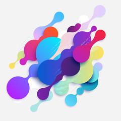 Background of multicolor bubbles