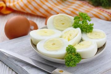 Boiled eggs ready for eat