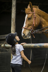 Girl Equestrian outdoor