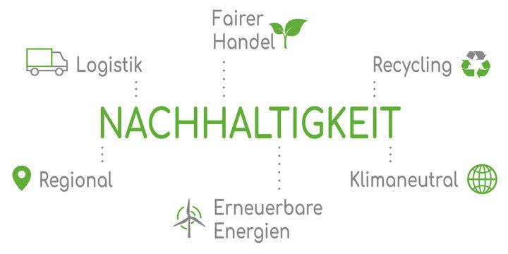 Infografik Nachhaltigkeit Grün