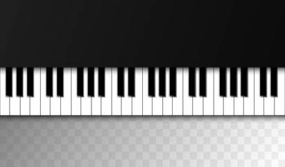 Backdrop with piano. Realistic piano keys. Design illustration vector.