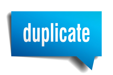 duplicate blue 3d speech bubble