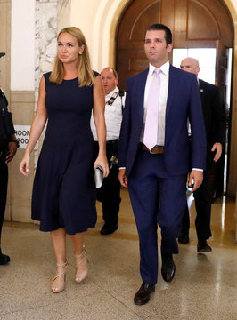 Donald Trump Jr. and his wife Vanessa appear at State Supreme Court for divorce hearing in New York