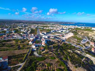 Sagres desde el aire.  Drone en Villa de Portugal en el Algarve