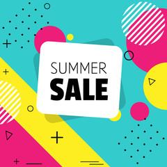 Summer sale. Shapes.