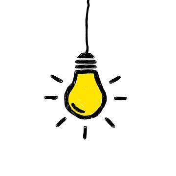 Doodle Lightbulb Hanging
