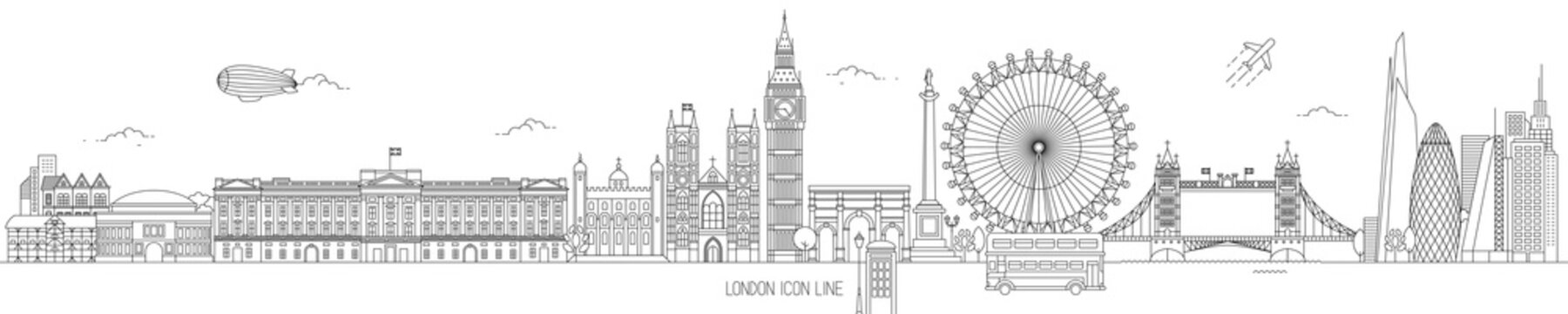 London Thin Line Vector Skyline