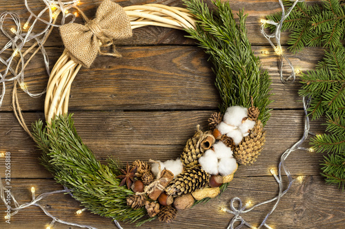 Christmas Decoration Christmas Wreath Christmas Tree Branches And