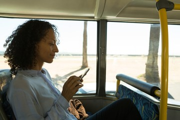 Woman using mobile phone