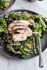 Apple Cider Grilled Chicken over Kale Salad