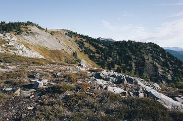 Vast mountains and valley, Pasayten Wilderness, Washington