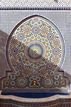 Traditional moroccan fountain