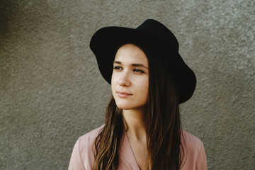 In a hat