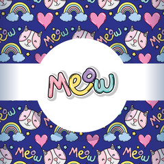 Meow pattern background