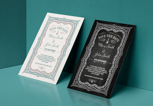 Save the Date Layout with Ornamental Border