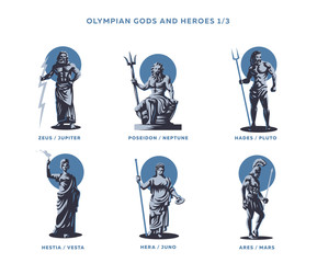 Olimpian gods and heroes.