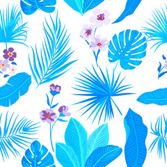 Seamless pattern floral. Vector background.