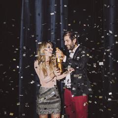 Couple Celebrating