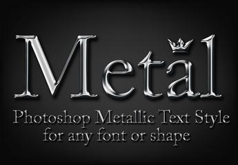 Silver Metal Serif Typeset