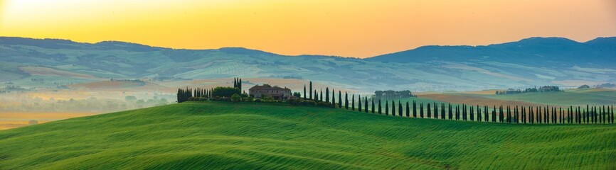 Poster Toscane The most beautiful view in Tuscany Italy.