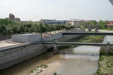 Toledo Bridge, Puente de Toledo Madrid España, Spain