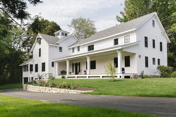 Exterior of New England Home