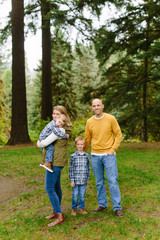Cute Family Posing for Fall Portrait