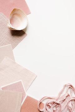decorating decisions around blush pink