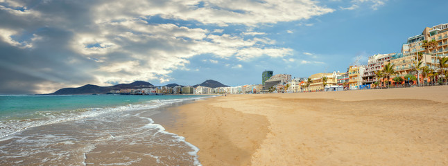 Las Palmas beach. Gran Canaria, Canary Islands, Spain