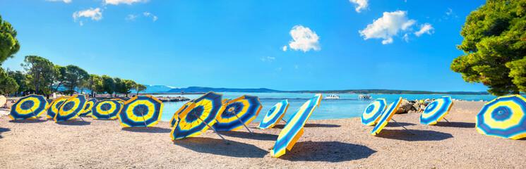Wall Mural - Beach in Crikvenica town. Kvarner bay, Croatia
