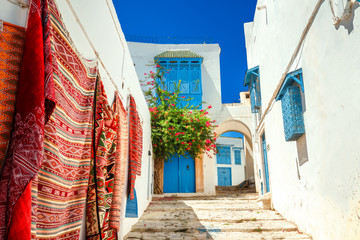 Canvas Prints Tunisia Sidi Bou Said. Tunisia, North Africa