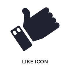 Like icon vector sign and symbol isolated on white background, Like logo concept