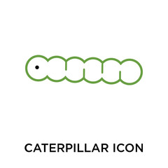 caterpillar icon isolated on white background. Simple and editable caterpillar icons. Modern icon vector illustration.
