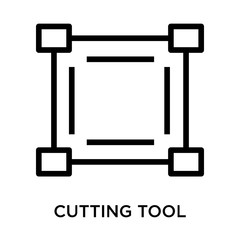 cutting tool selection icon on white background. Modern icons vector illustration. Trendy cutting tool selection icons