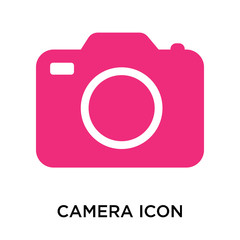 camera icon isolated on white background. Simple and editable camera icons. Modern icon vector illustration.