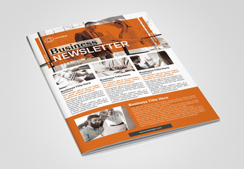 Newsletter Booklet Layout