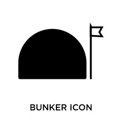 bunker icon isolated on white background. Simple and editable bunker icons. Modern icon vector illustration.
