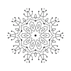 Snowflake Thin Line Icon Isolated