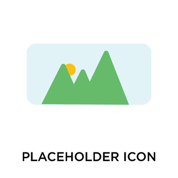 placeholder icon isolated on white background. Simple and editable placeholder icons. Modern icon vector illustration.