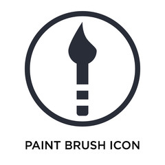 Paint brush icon vector sign and symbol isolated on white background, Paint brush logo concept