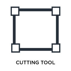 Cutting tool selection icon vector sign and symbol isolated on white background, Cutting tool selection logo concept