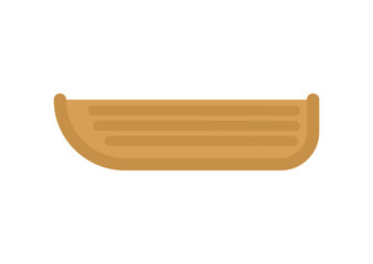 Wooden boat isolated. Fisherman transport. Vector illustration