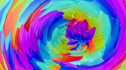 multicolored three-dimensional abstract background