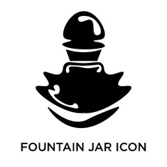 fountain jar icon isolated on white background. Simple and editable fountain jar icons. Modern icon vector illustration.